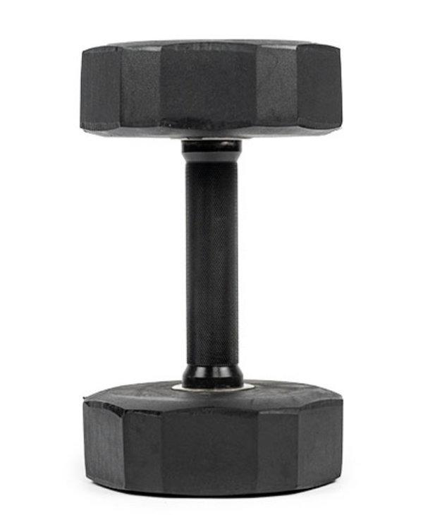 Rubber Pro Dumbbell Set 5-50 w/rack