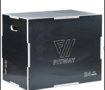 """FitWay 3-in-1 Non-Slip Wood Plyo Box, 20"""" x 24"""" x 30"""""""