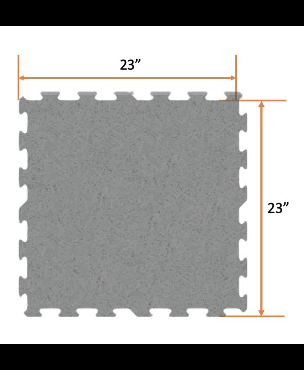 Ecore Basic Fit Interlock EL00 Black, 9mm x 23in x 23in
