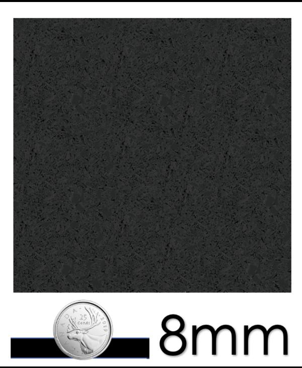 Ecore Everlast Remnants, EL00 Basic Black 8mm x 23in x 23in