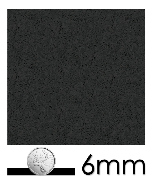 Ecore Everlast Remnants, EL00 Basic Black 6mm x 23in x 23in