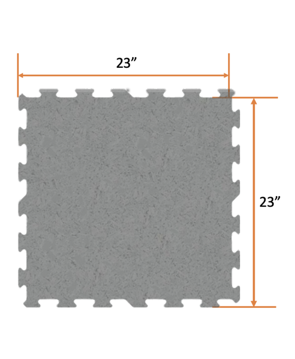 "Ecore Basic Fit EL02 Grippin Grey, 6mm X 23"" x 23"""