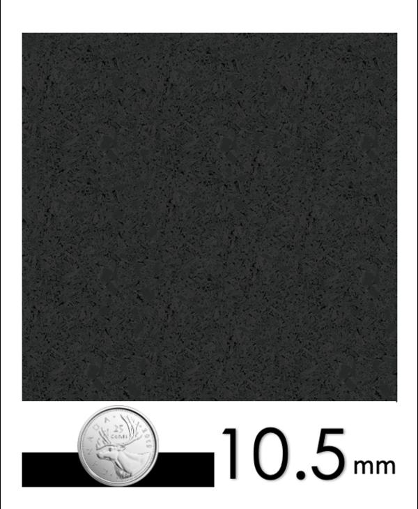 Ecore Everlast Remnants, EL00 Basic Black Beast,  2.5mm+8mm x 23in x 23in