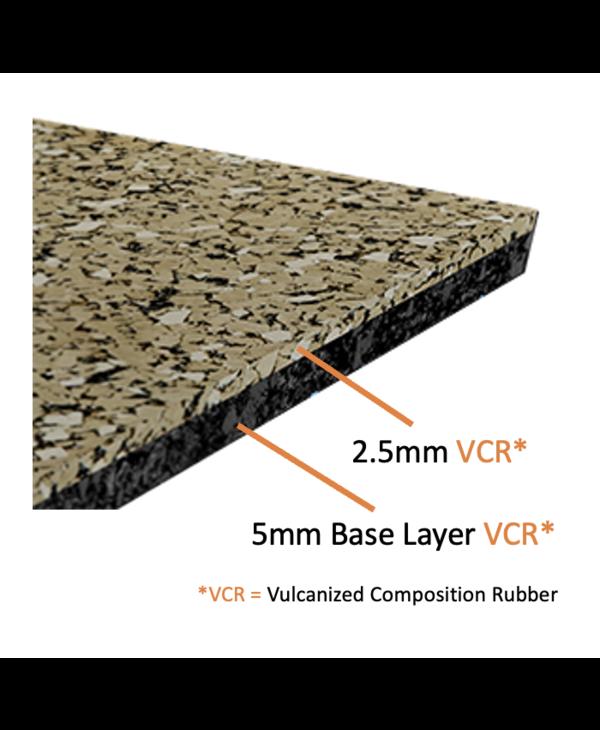 "Ecore Performance Motivate Interlock Rubber Tiles, Dark Grey,  7.5mm x 23"" x 23"""