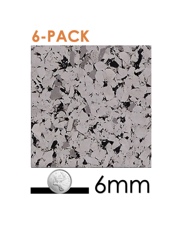 6 pack - Ecore Interlocking Going Grey, 6mm x 24in x 24in