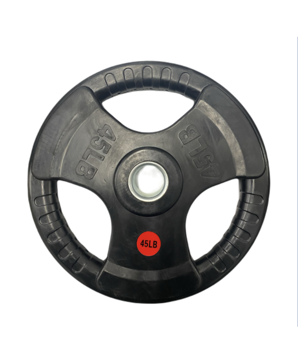 GC Tri-Grip Rubber Olympic Plates, Pair