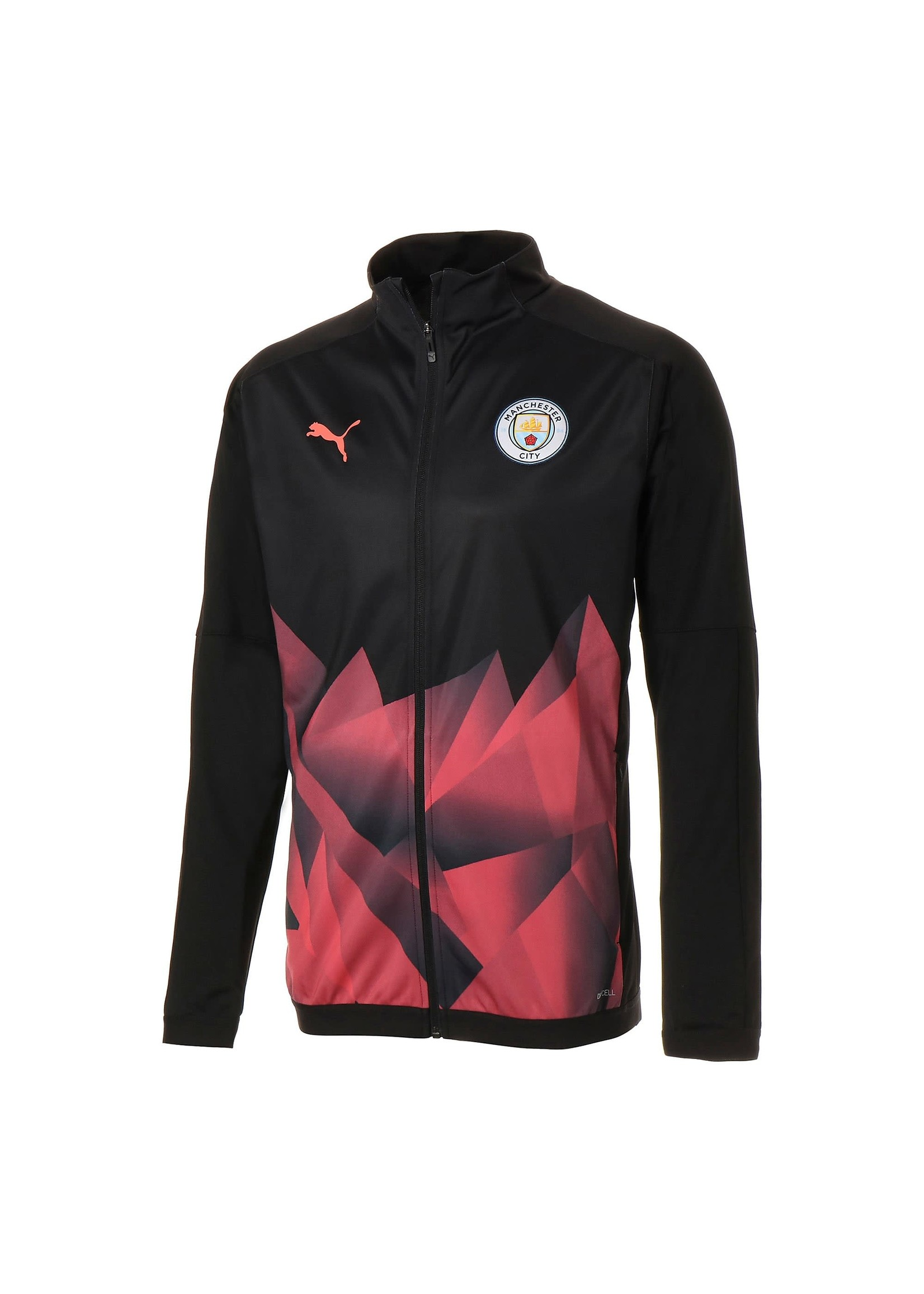 Puma Manchester City Stadium Track Jacket - Black/Red