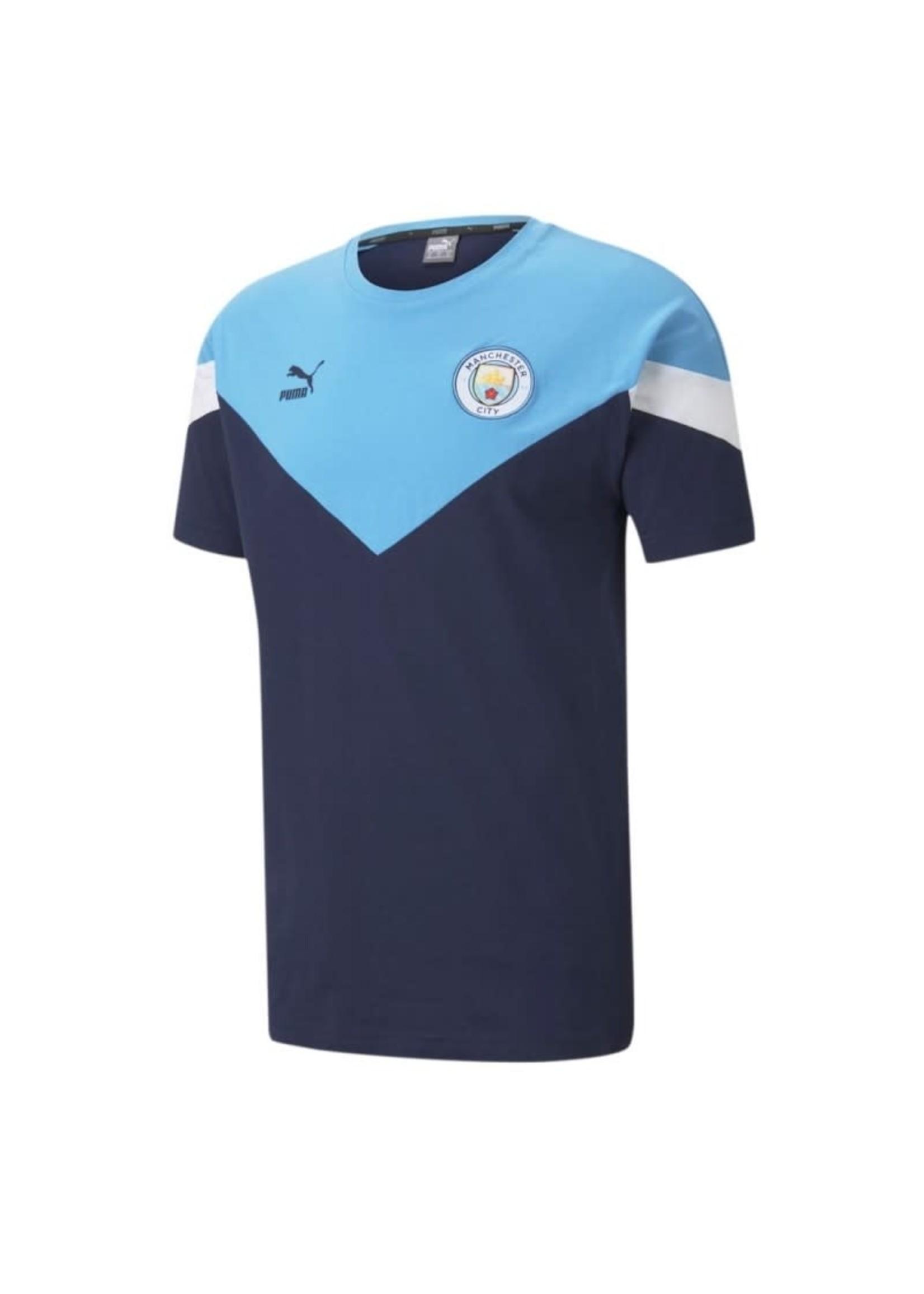 Puma Manchester City Icon T-Shirt - 20/21 Home