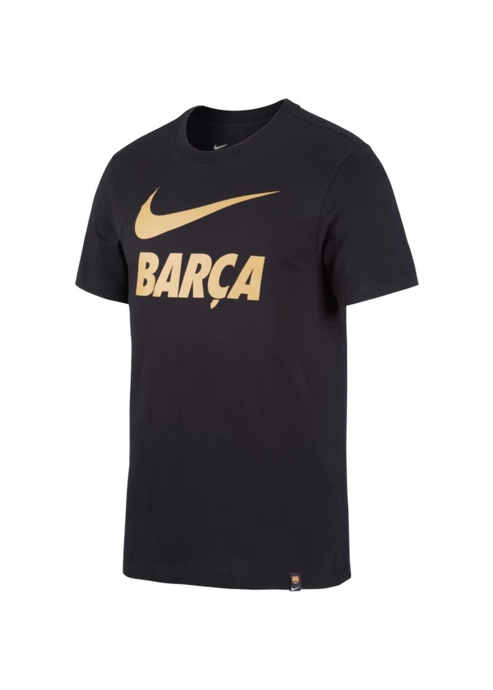 Nike Barcelona T-Shirt - Black/Gold Barca