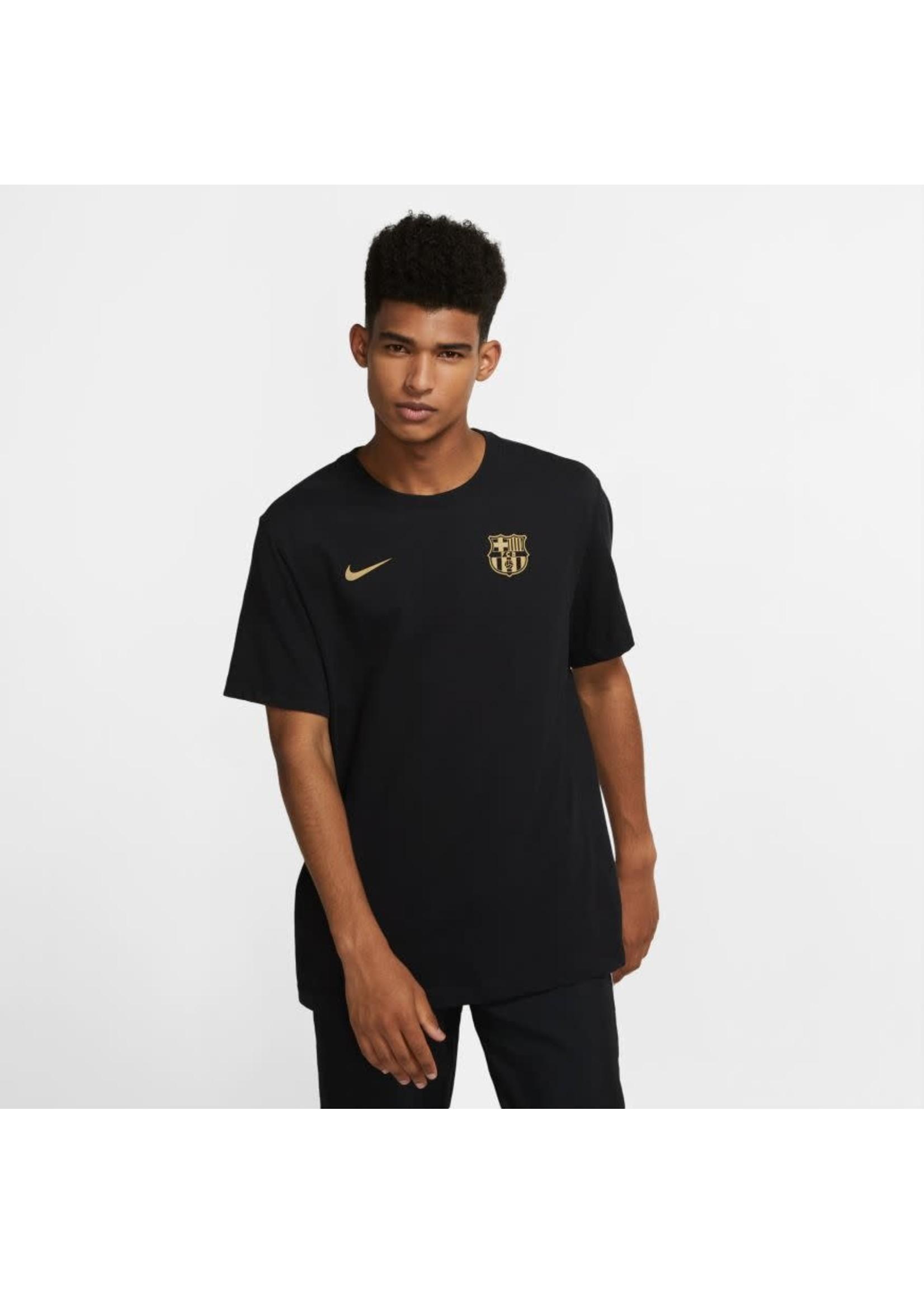 Nike Barcelona Core Match T-Shirt - Black/Gold