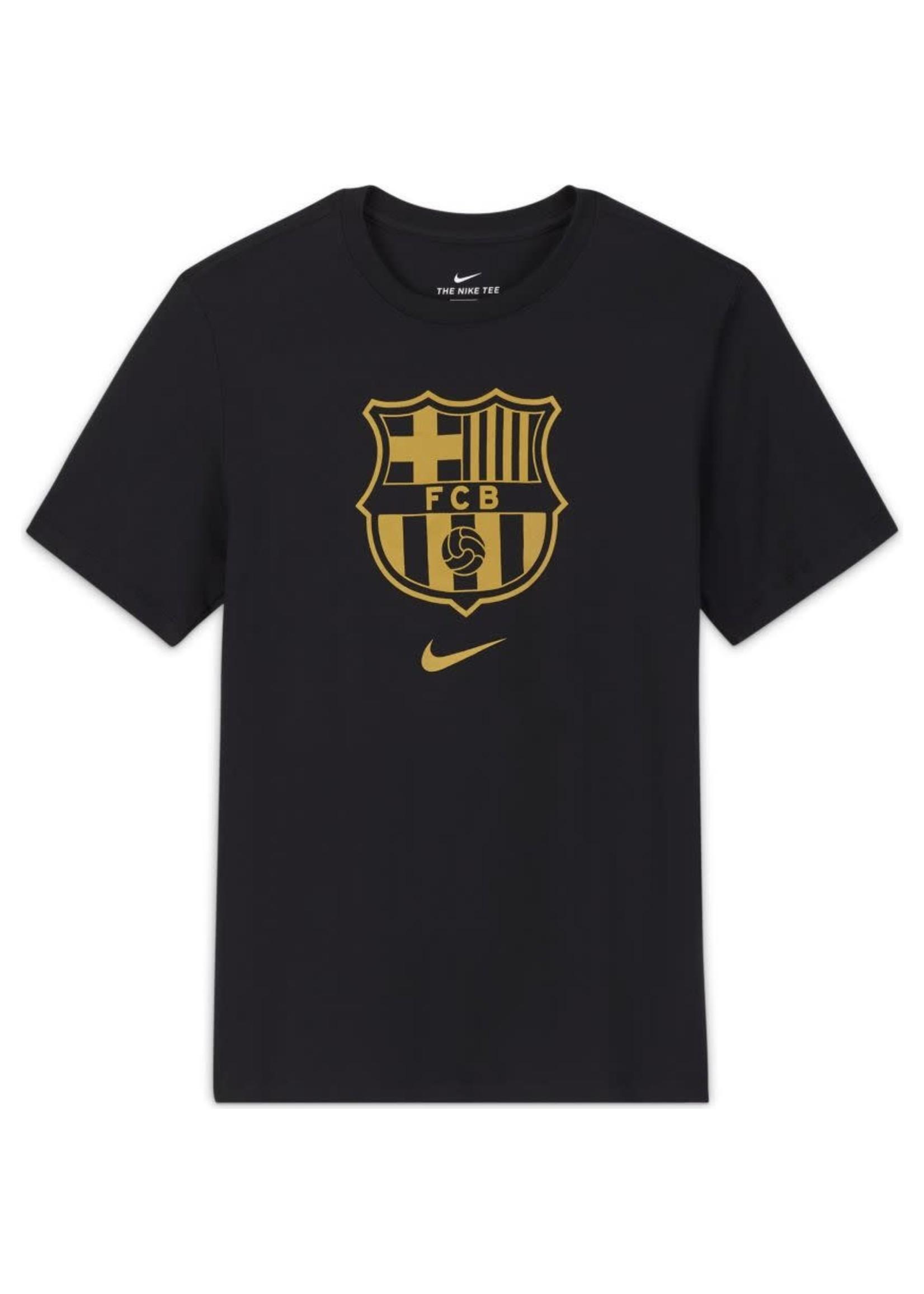 Nike Barcelona Logo T-Shirt - Black/Gold