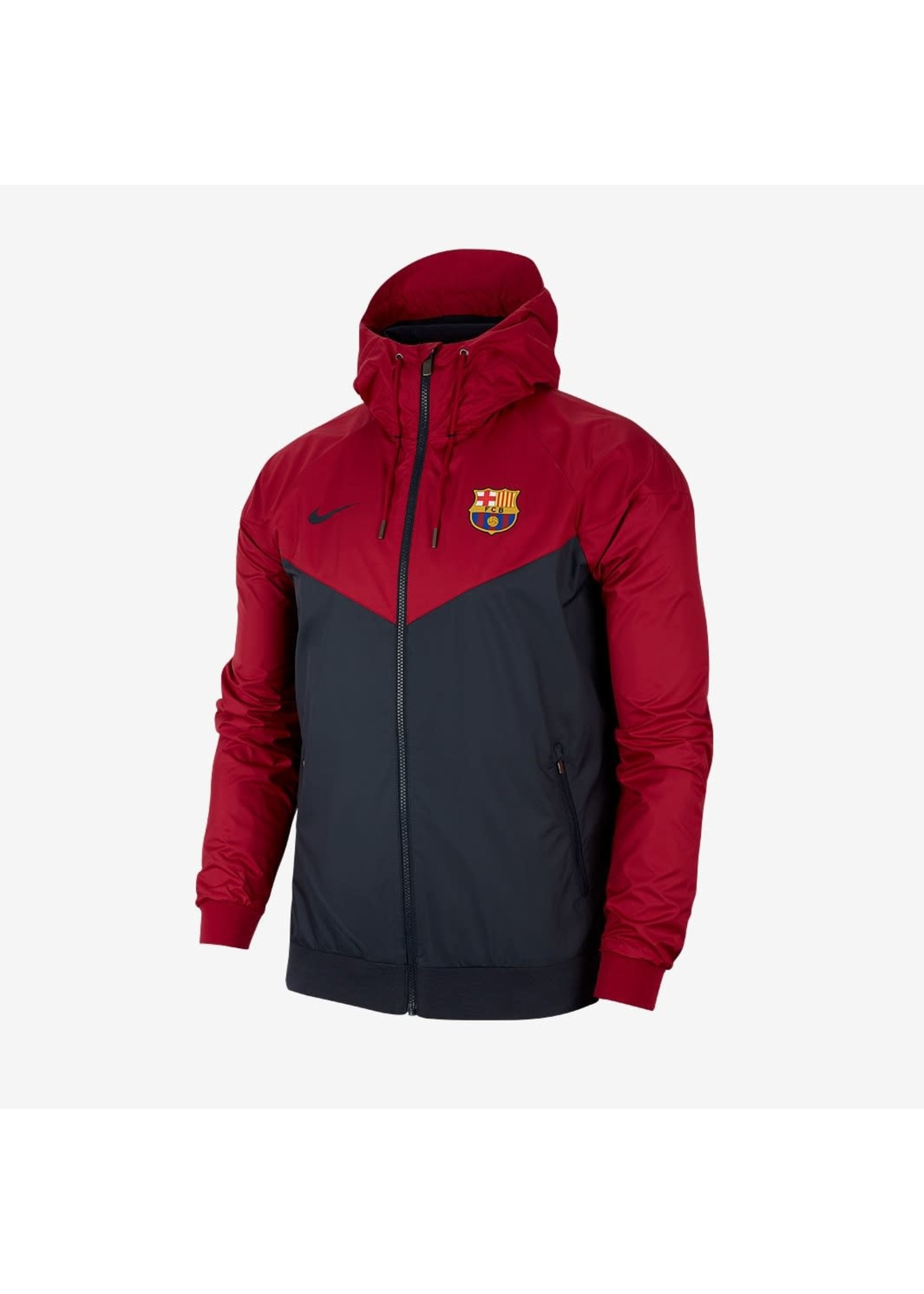 Nike Barcelona Windbreaker Full Zip - Red/Black
