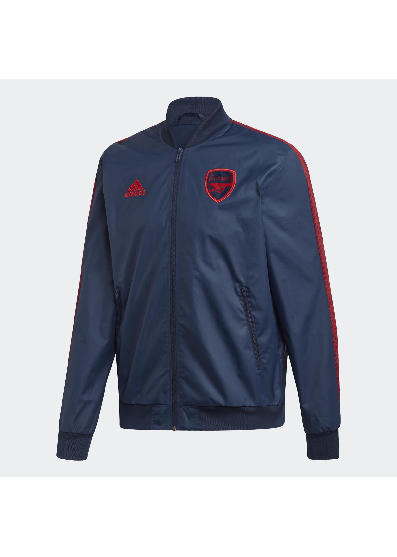 Adidas Arsenal Windbreaker Full Zip - Navy/Red