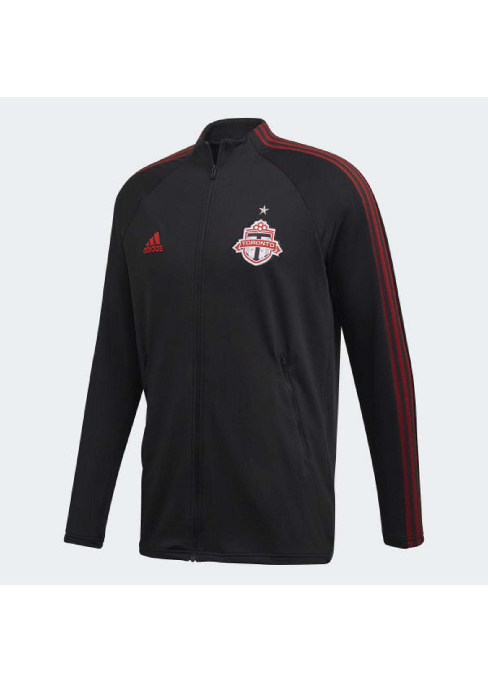 Adidas Toronto Track Jacket Full Zip - Black/Red