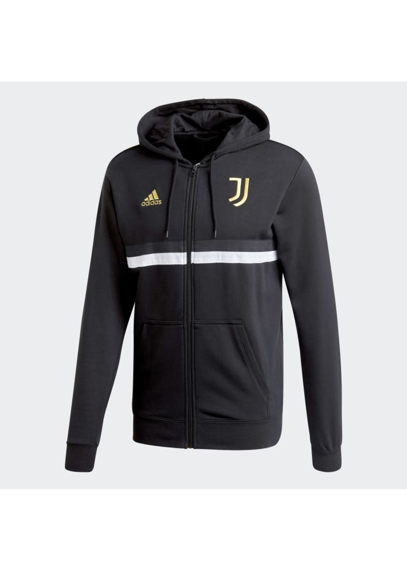 Adidas Juventus Full Zip Hoodie - Black/Gold