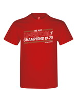 Liverpool T-Shirt - Red - Champions 19-20 Adult