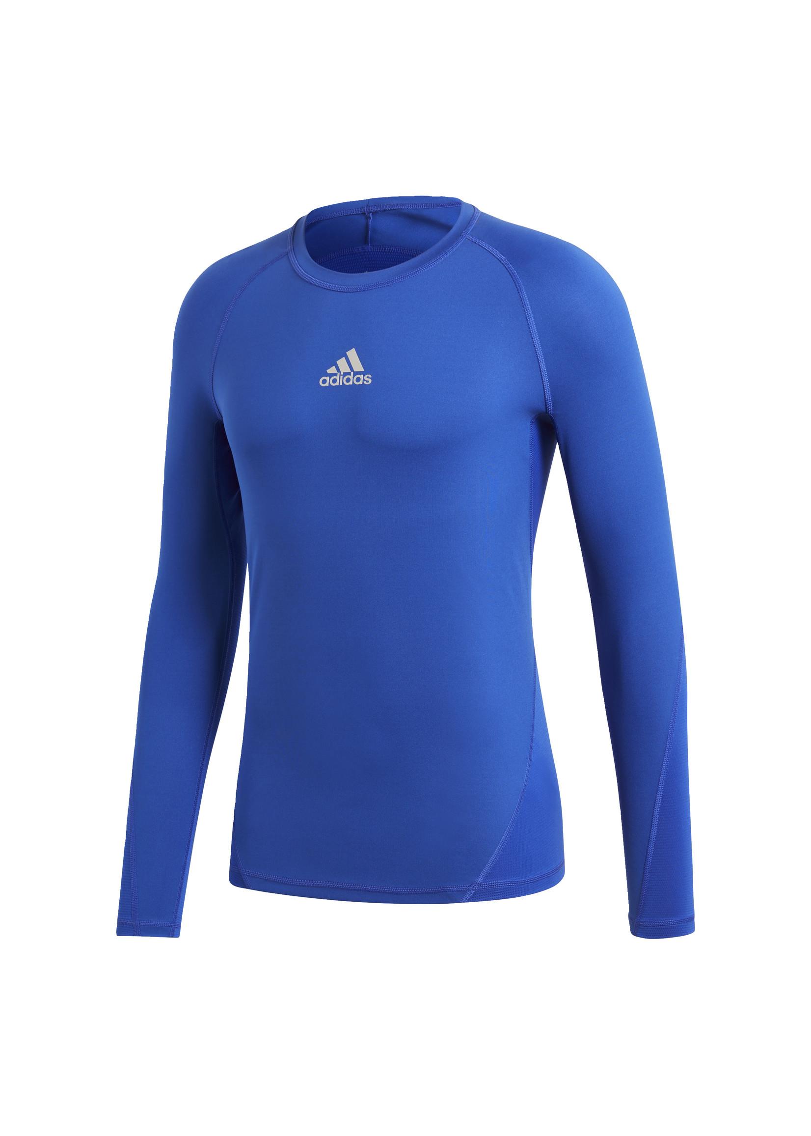 Adidas Compression Blue Long Sleeve Adult