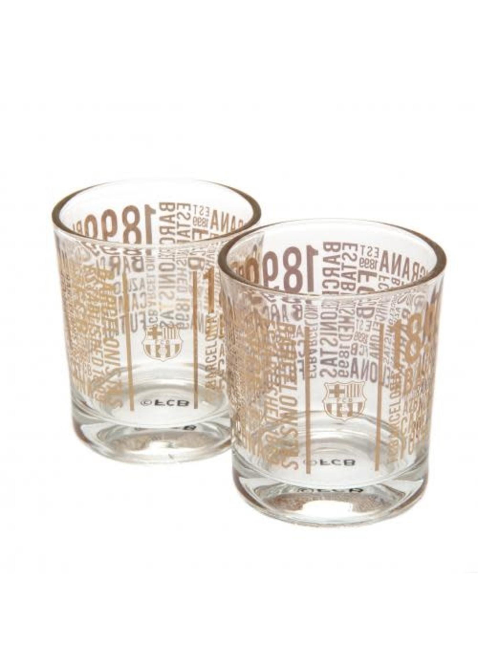 FC Barcelona Whiskey Glasses - 2 pack