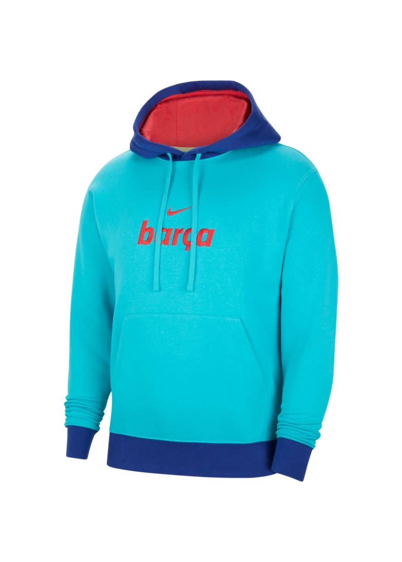 Nike Barcelona Fleece Pullover Hoodie - Blue