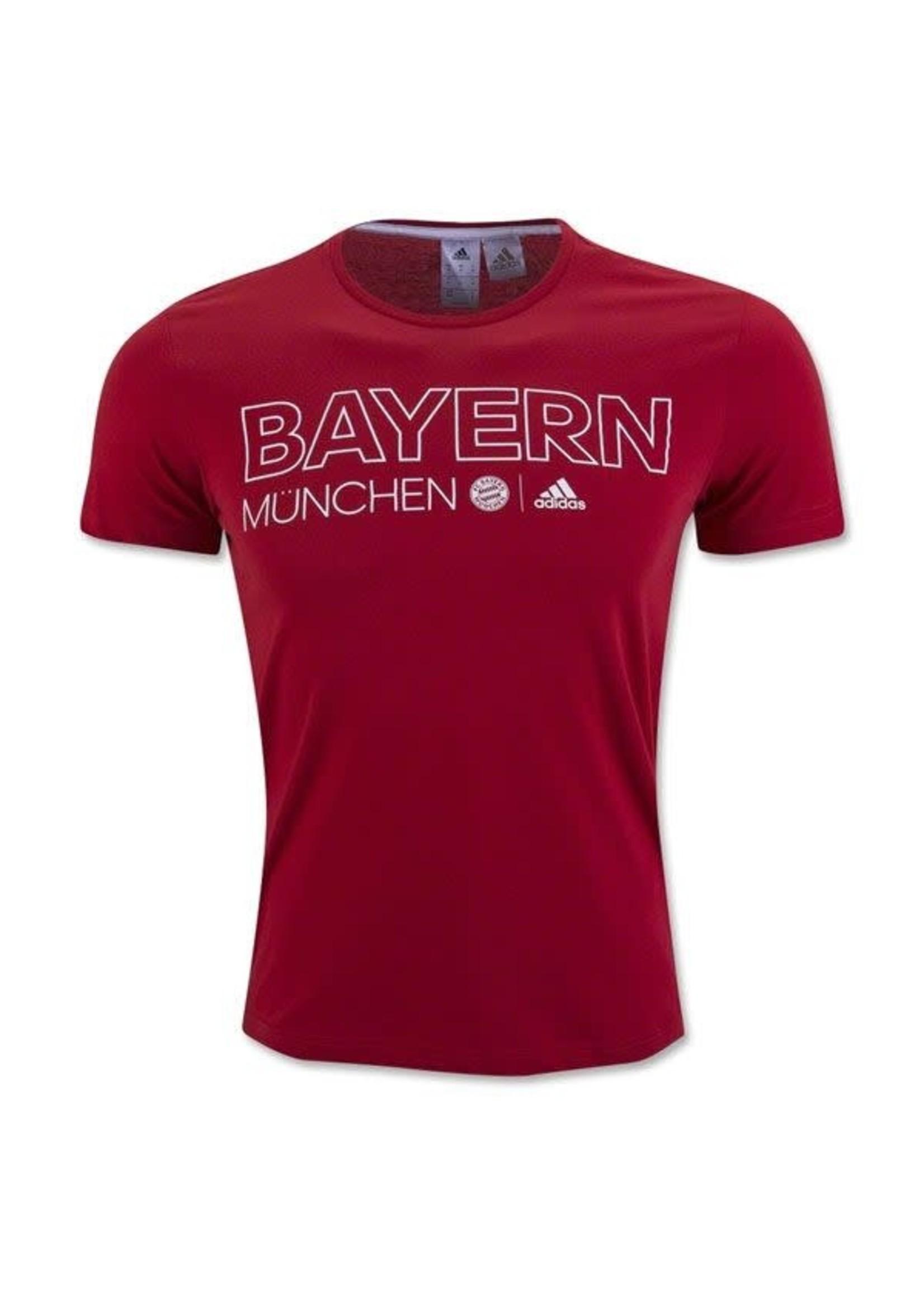 Adidas Bayern Munich T-Shirt - Red