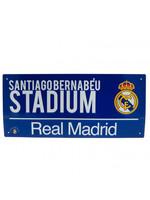 Real Madrid Santiago Bernabeu Street Sign
