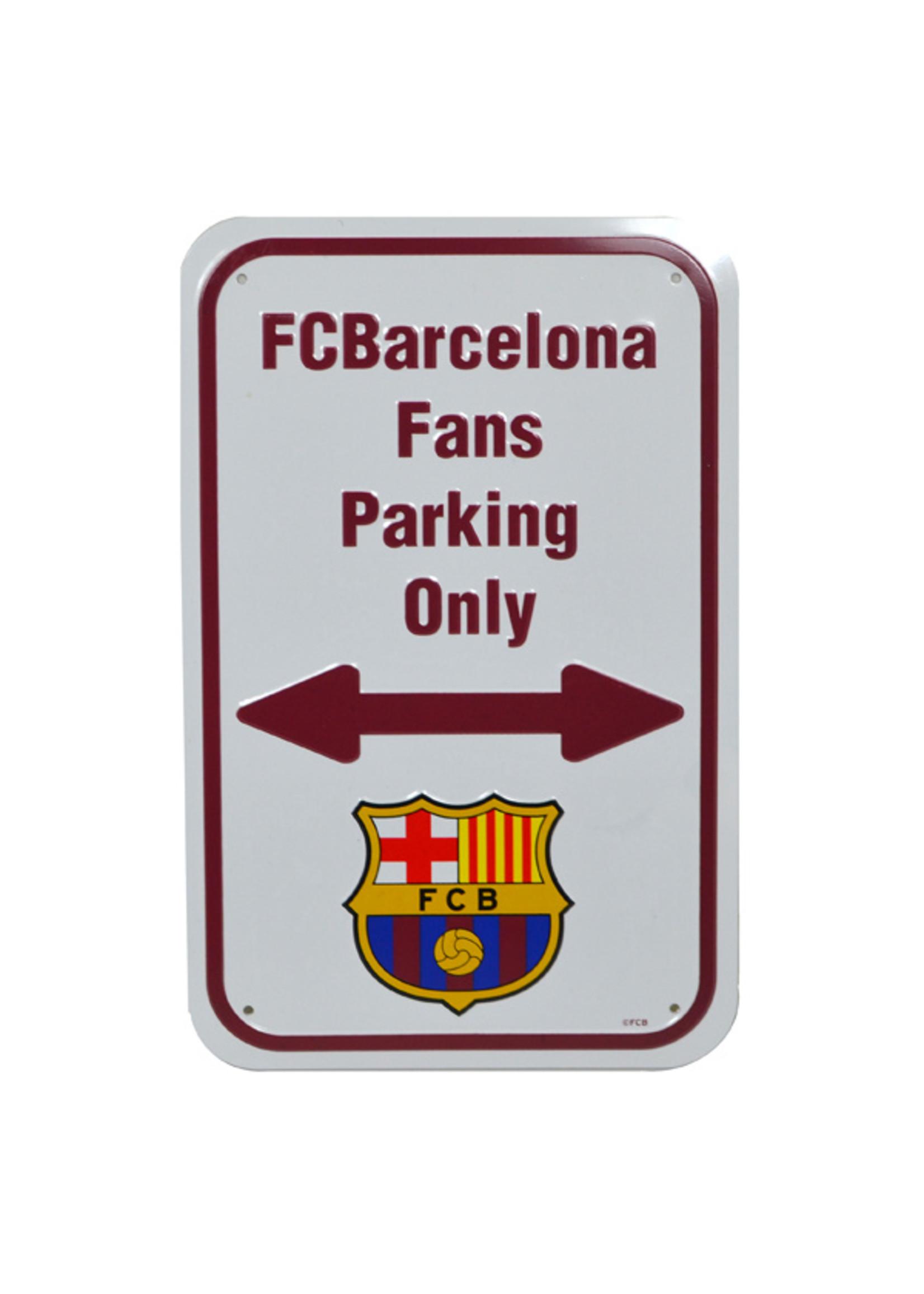 FC Barcelona Fans Parking Only Street Sign