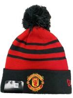 Manchester United Beanie - Black/Red Pom