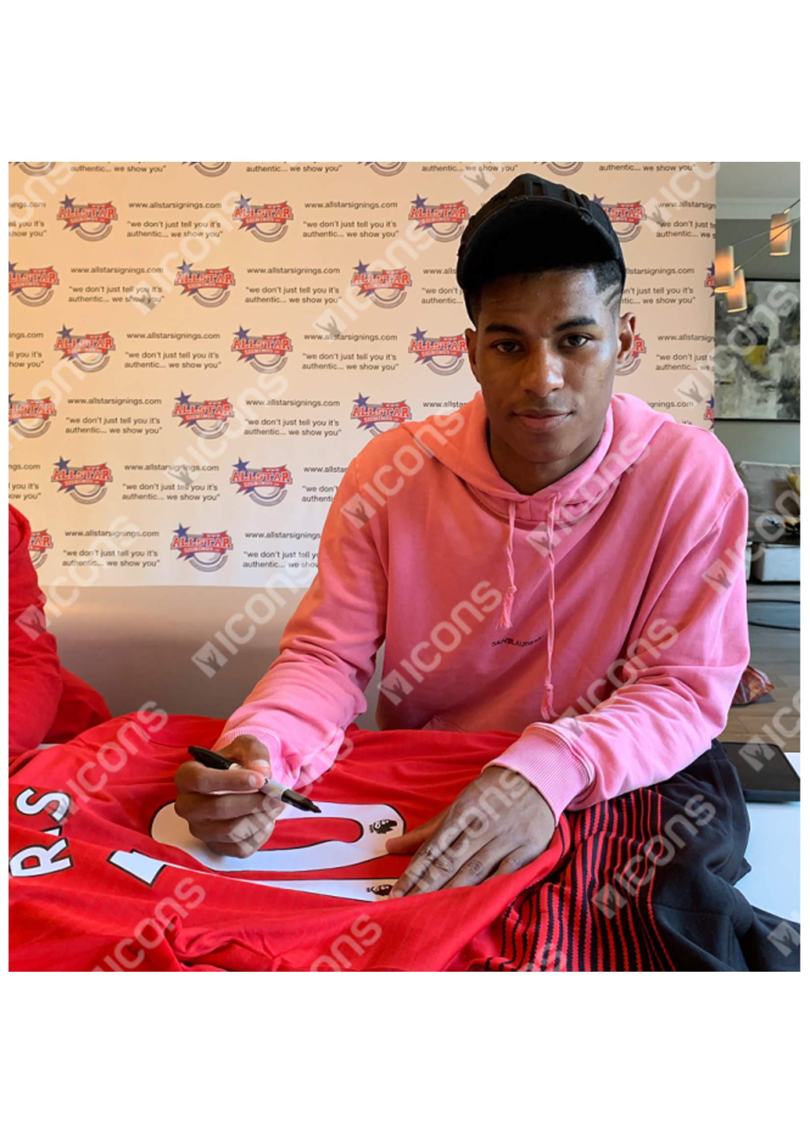 Marcus Rashford 18/19 Authentic Signed Manchester United Jersey