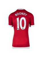 Wayne Rooney Manchester United 15/16 Signed Shirt