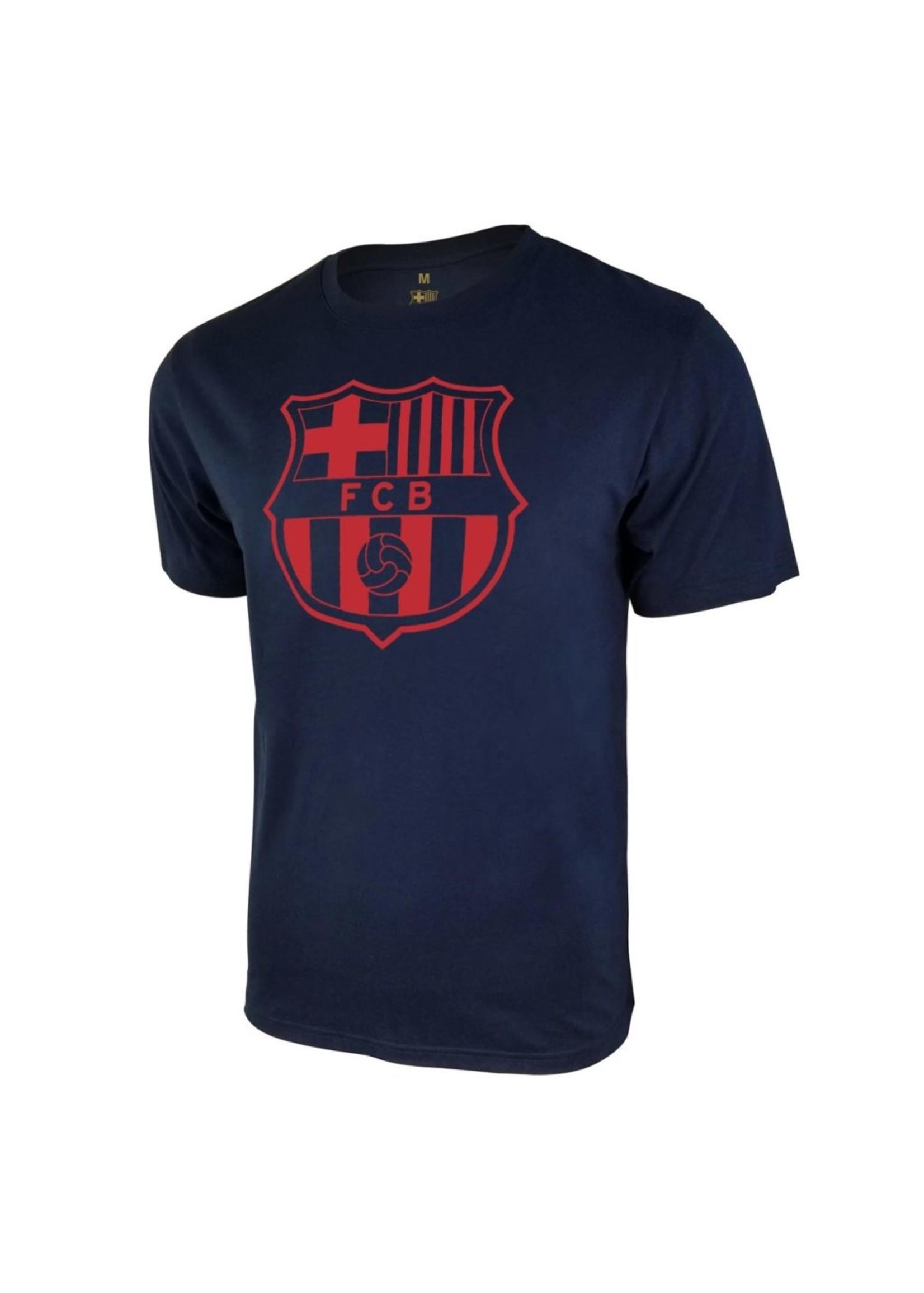 Barcelona Navy Team Crest Poly T-Shirt