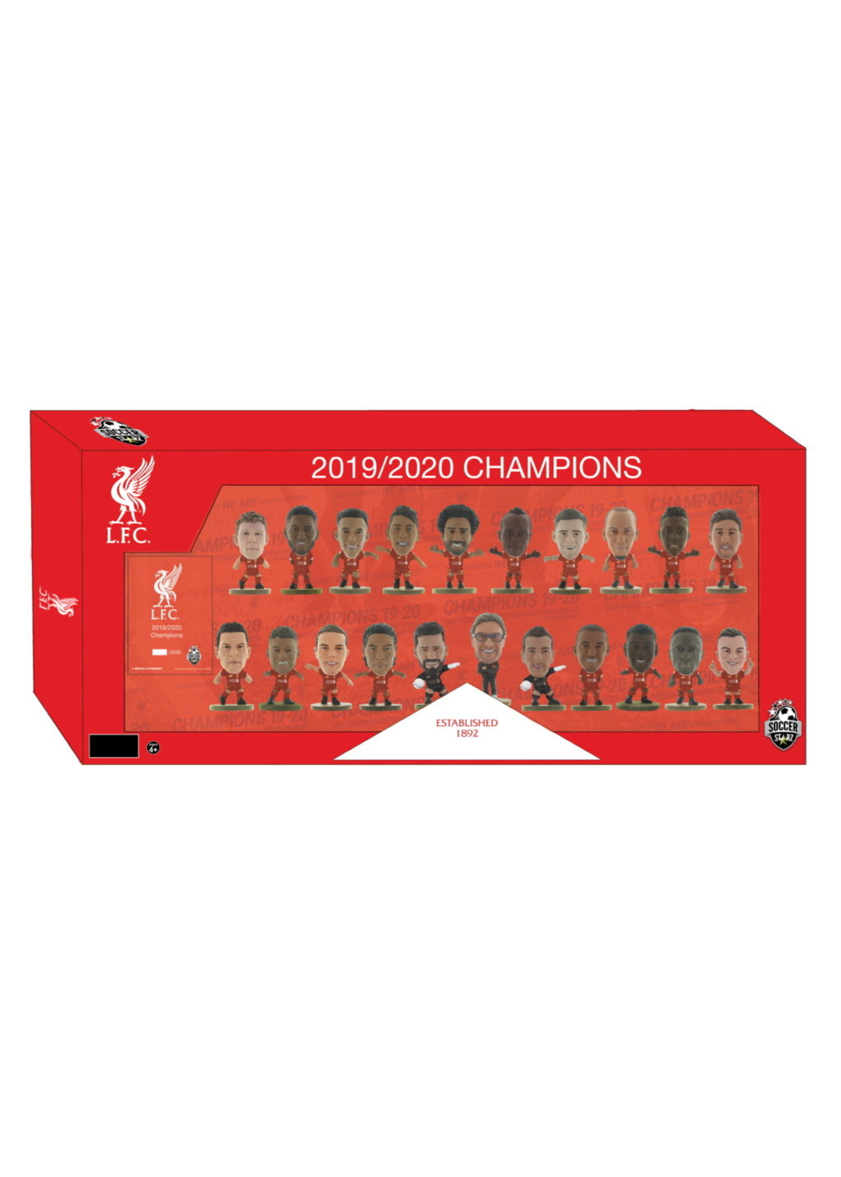 SoccerStarz Liverpool 19/20 PL Champions Limited Edition Team Pack