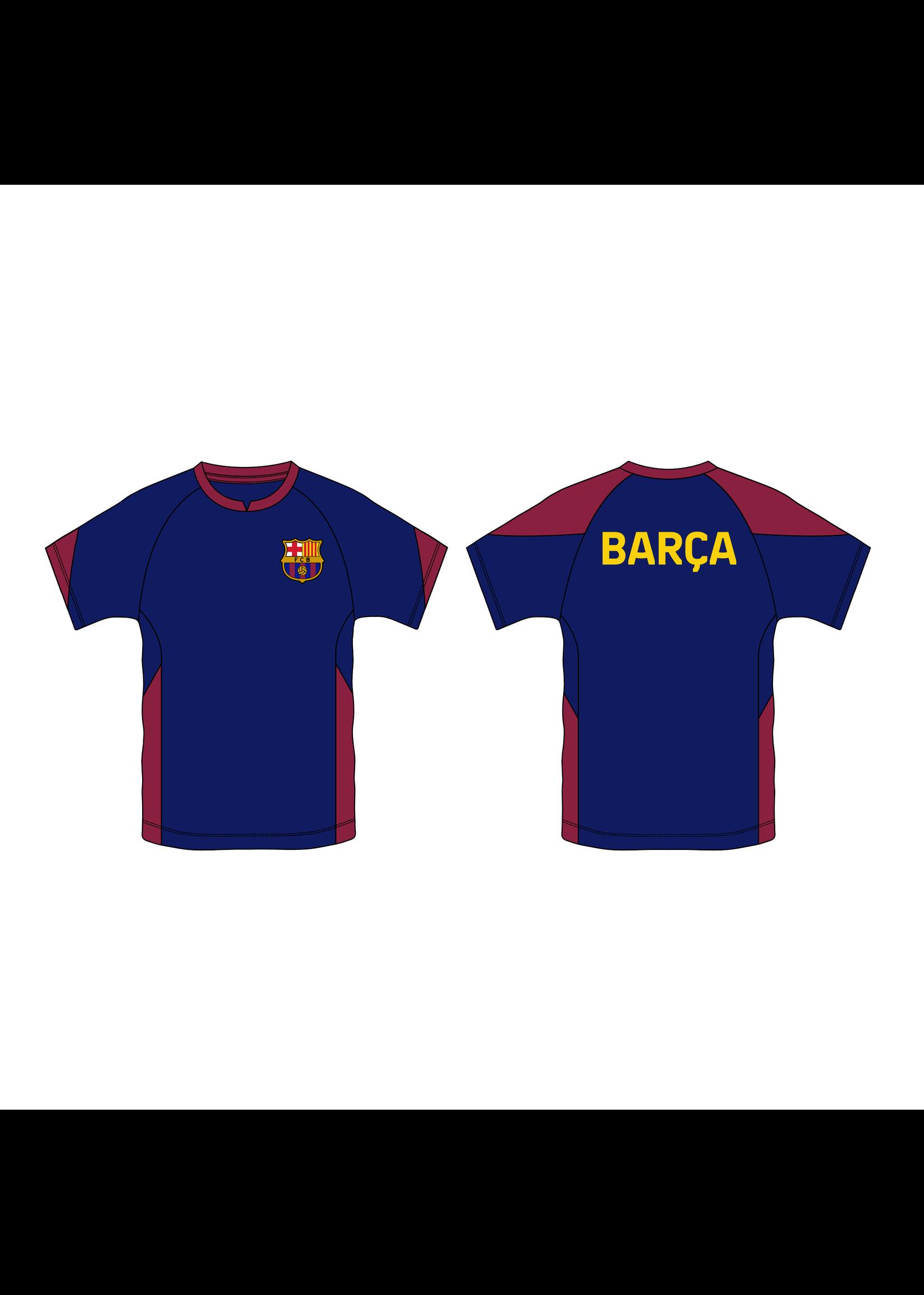 Barcelona Navy Polyester T-Shirt