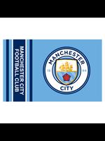 Manchester City Wordmark Stripe Flag