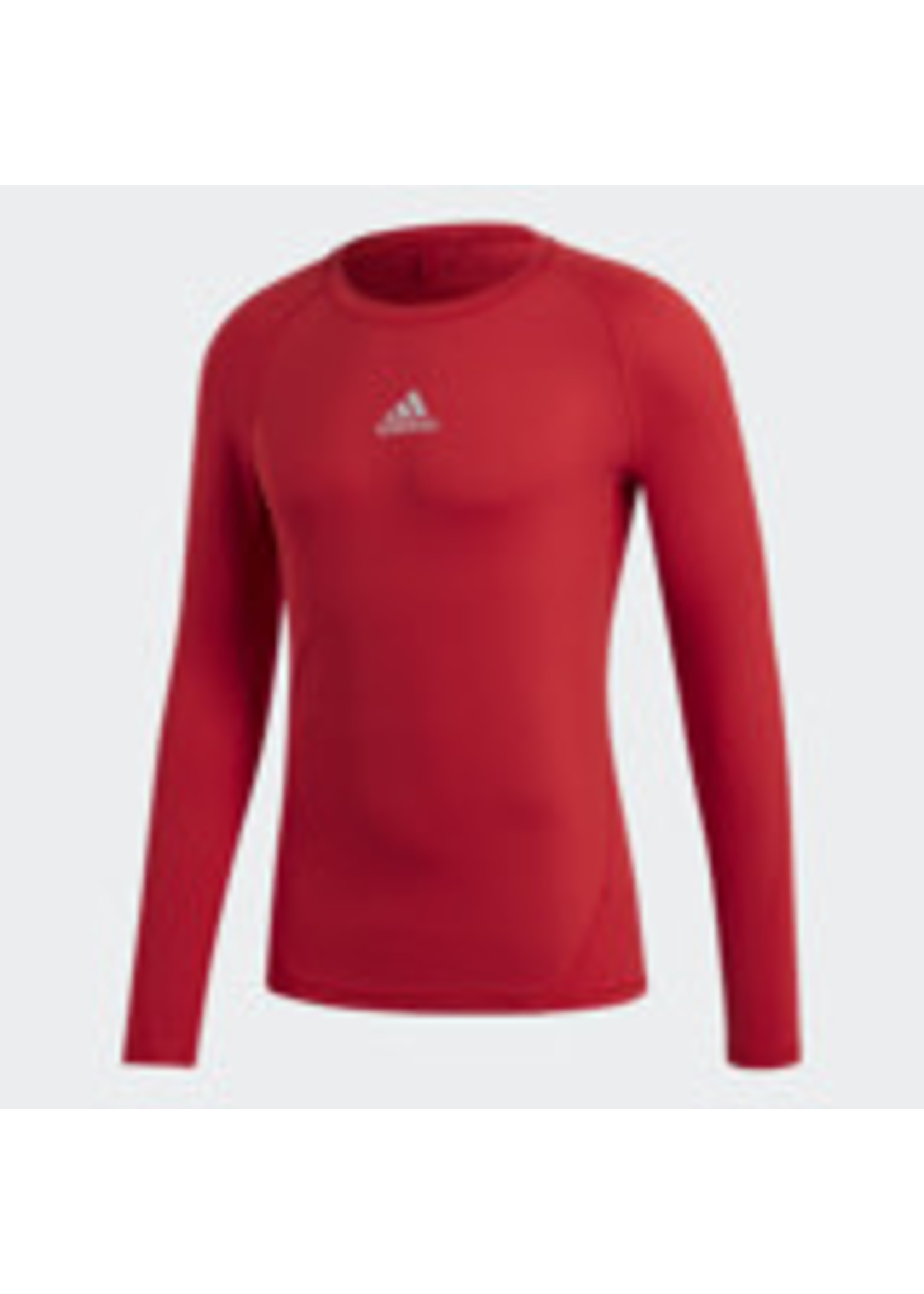 Adidas Compression Red Long Sleeve Adult