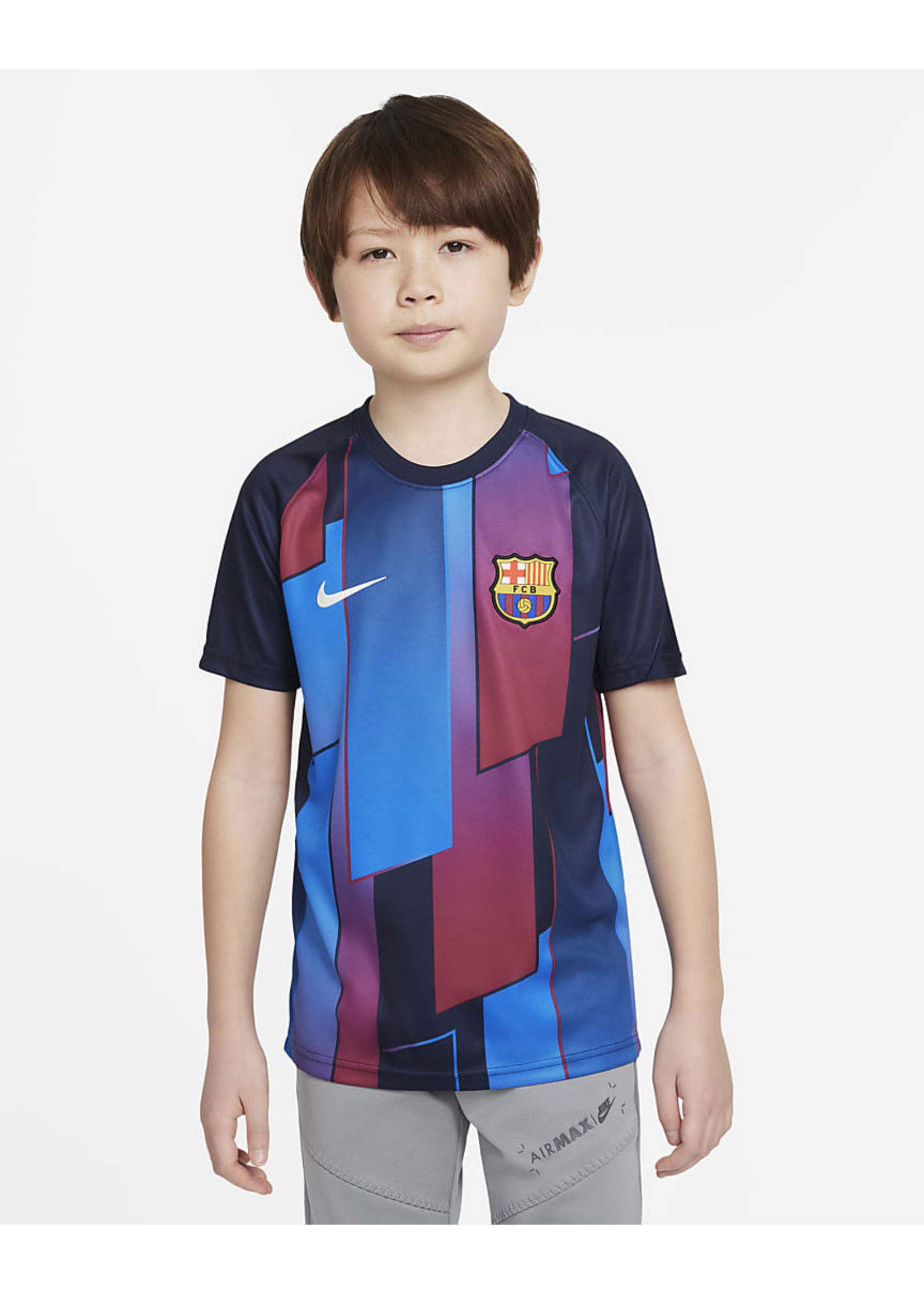 Nike Barcelona 21/22 Pre Match Jersey Youth