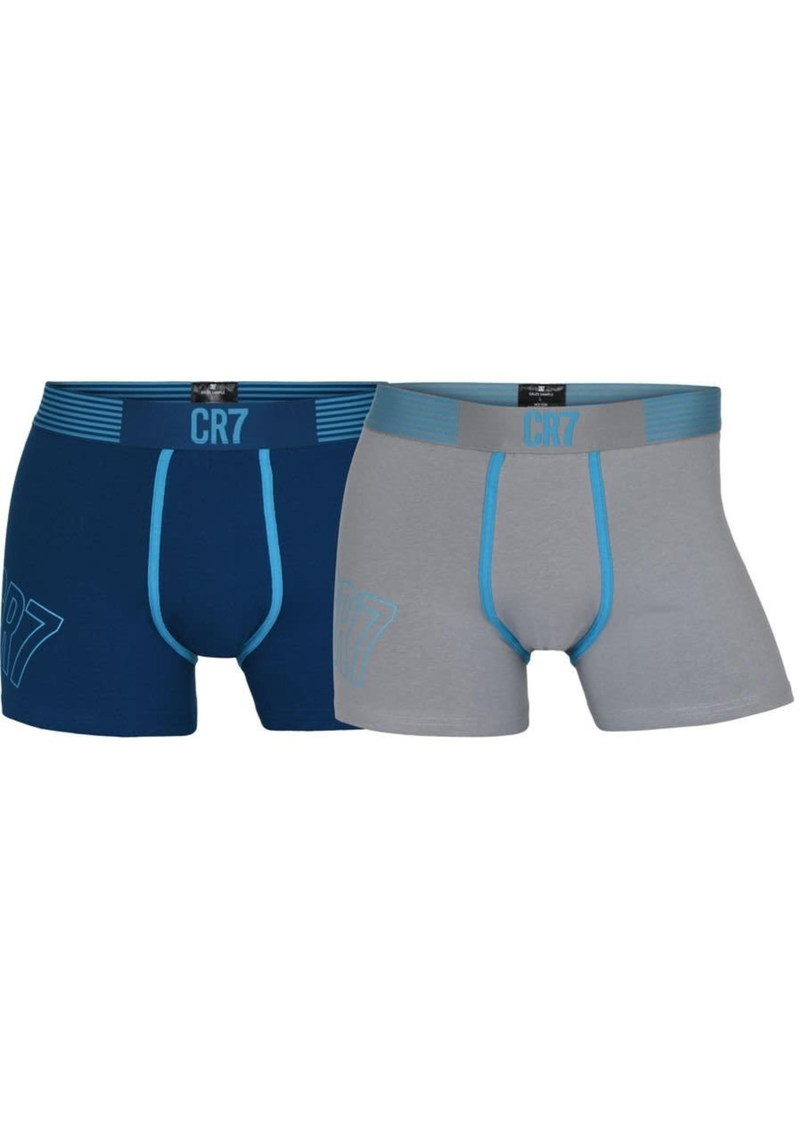 CR7 Boxer Underwear 2-Pack - Blue/Grey Adult