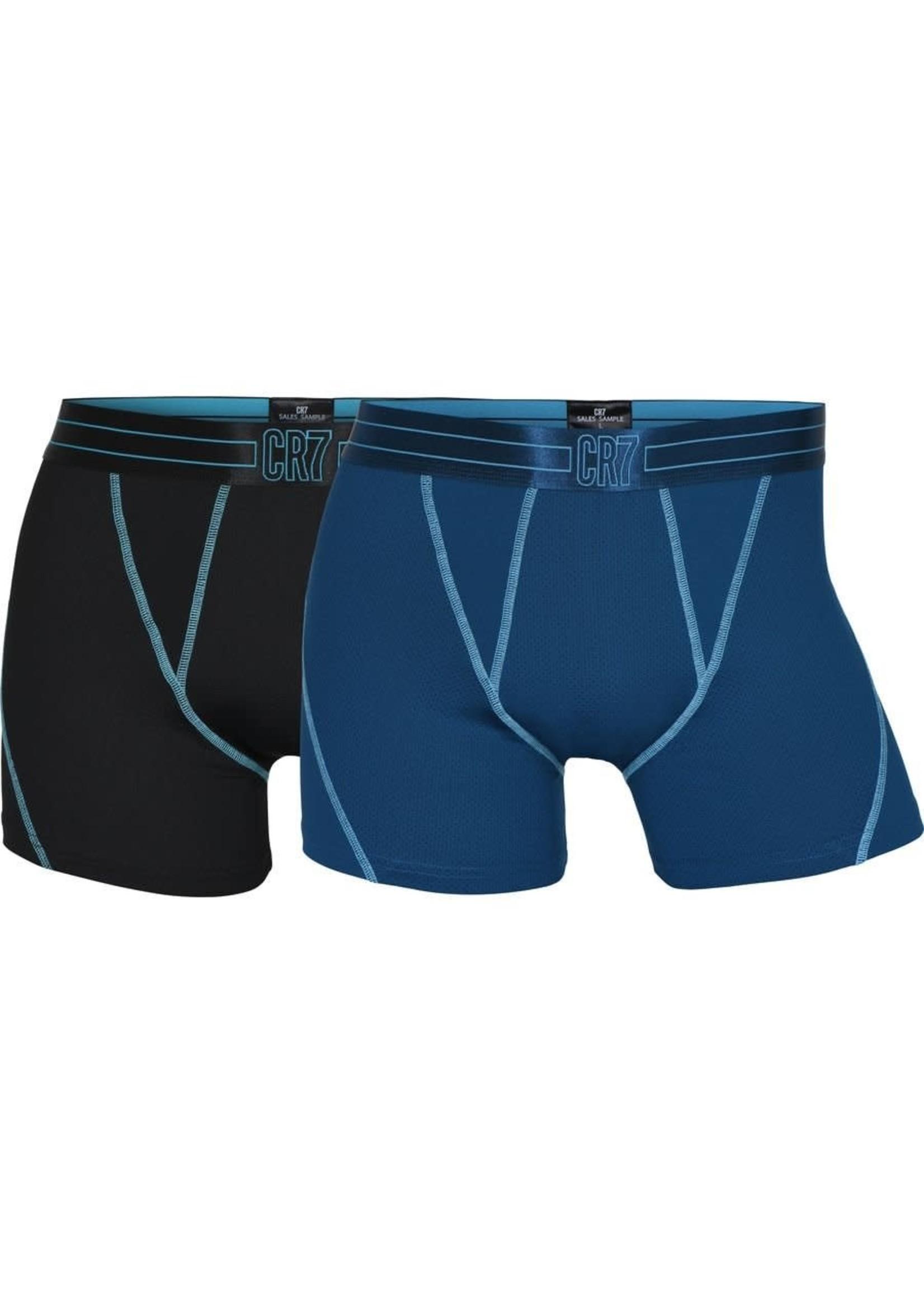 CR7 Boxer Underwear 2-Pack - Black/Blue Adult
