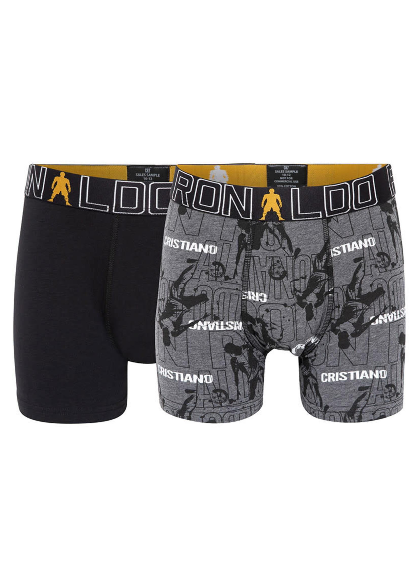 CR7 Boxer Underwear Fashion 2-Pack - Black/Grey Youth