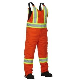 Forcefield HD Cotton/Canvas Ins. Bib Overall - Orange