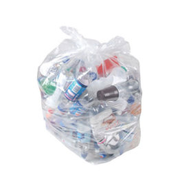 Proven 30x38 Clear Garbage/Recycle Bags, Strong - 200/box
