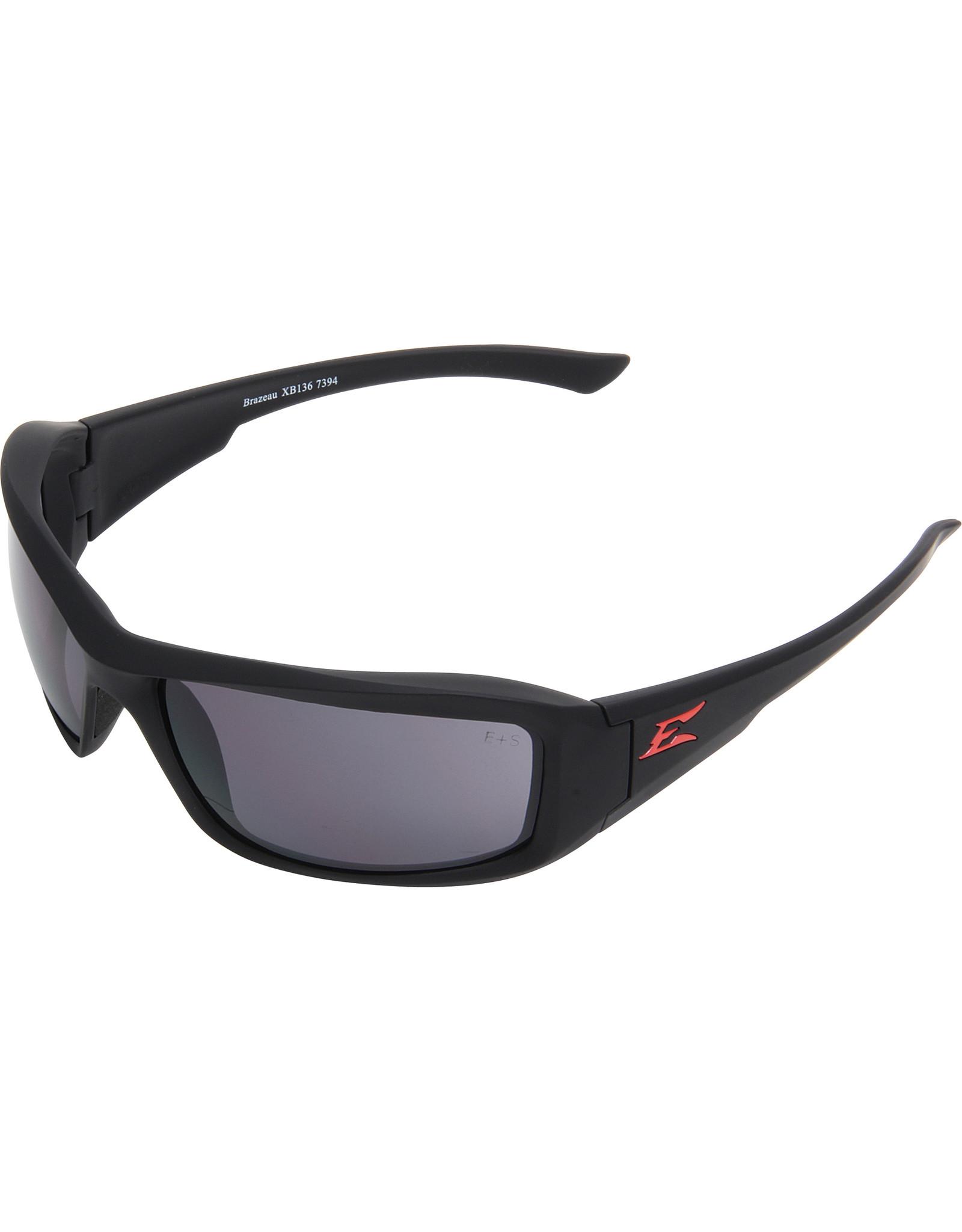 "Edge Edge Safety Sunglasses, Smoke w/Red ""E"""