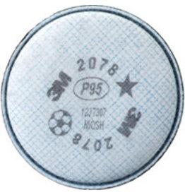 3M 2078 Series P95 Respirator Filter w/Nuisance Liner