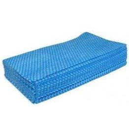 Proven Food Service Wipe Cloth, Blue, 100/Case