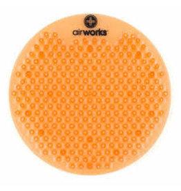 Airworks Citrus Grove Urinal Pads, 10/Box