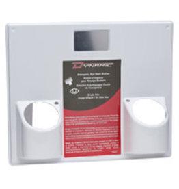 Dynamic Panel for Eye Wash Station, Dual Holder, 14x16