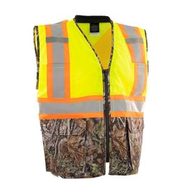 Forcefield Deluxe Safety Vest, Lime/Camo