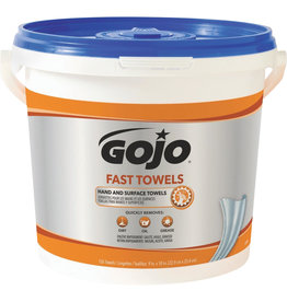 Gojo Fast Wipes Hand Cleaning Towels, 225/Tub