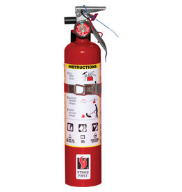 Strike First Steel Dry Chemical ABC Fire Extinguisher - 2.5 lbs.