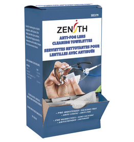 Zenith Lens Cleaning/Anti-Fog Towelettes (100/box)