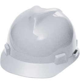 MSA V-Gard Hard Hat, CSA Type I, Ratchet, White
